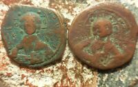 LOT OF TWO COINS OF ROMANUS III. 1028 1034 AD.