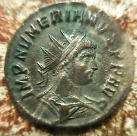 VF  NUMERIAN ANTONINIANUS 75  SILVERING REMAINING  BENT AT ONE TIME BUT NOT NOW: