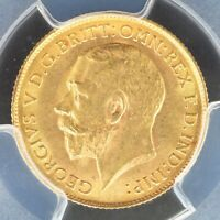 1/2 SOVEREIGN 1913 PCGS MS63 GREAT BRITAIN S 4006 GOLD COIN
