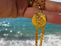 SPAIN 2 ESCUDOS PENDANT NECKLACE JEWELRY 1556 98 PIRATE GOLD COINS SHIPWRECK
