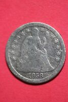1858 P SEATED LIBERTY DIME EXACT COIN SHOWN FLAT RATE SHIPPING OCE 081