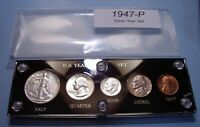 1947 SILVER SET OF U.S. COINS ABOUT UNCIRCULATED TO BRILLIAN