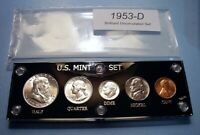 1953 D MINT SILVER SET OF U.S. COINS LUSTROUS BRILLIANT UNCI