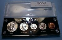 1955 SILVER SET U.S. COINS LUSTROUS MINT STATE TO CHOICE BRI