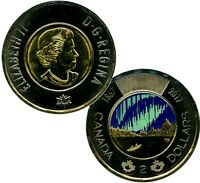 2017 $2 DOLLARS CANADA TOONIE 150 COLORED COMMEMORATIVE COIN