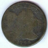 1794 U.S. FLOWING HAIR LARGE CENT  COPPER  OBVERSE GOOD / RE
