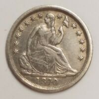 1840 O SEATED LIBERTY HALF DIME 5C COIN EARLY NEW ORLEANS