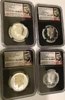 2014 4 PIECE KENNEDY 50TH ANNIVERSARY  SILVER SET NCG ALL FO