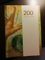 SECURITY BOOKLET SWITZERLAND 200 FRANCS NEW FRENCH GERMAN