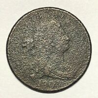 1805 DRAPED BUST HALF CENT C 3 SMALL 5 WITH STEMS SCARCE VAR