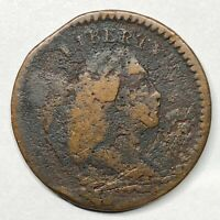 1794 LIBERTY CAP HALF CENT C-9 SMALL EDGE LETTERS CLIPPED PLANCHET DAMAGED
