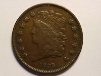 1835 1/2 CENT CLASSIC HEAD - DIE CRACK ON REVERSE