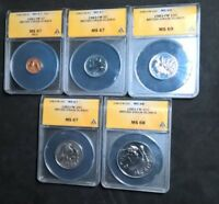 1983  BRITISH VIRGIN ISLANDS COLLECTION   CENT THRU HALF    ALL     ANACS