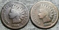 1866 1869 INDIAN CENT PENNY  -----  LOT -----   P651