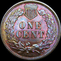 1891 INDIAN CENT PENNY ---- PCGS MINT STATE 64 GRADED SLABBED PURPLE TONE ---- 352