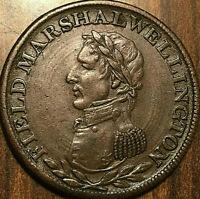 LOWER CANADA MARSHAL WELLINGTON HALFPENNY TOKEN   DATELESS WITH TRIDENT