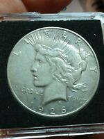 1926 S PEACE AMERICAN SILVER ONE DOLLAR COIN VAM 5A CLASH SPIKE EAGLES SHOULDER
