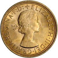 GREAT BRITAIN GOLD SOVEREIGN  .2354 OZ    ELIZABETH II LAUREATE BU   RANDOM DATE