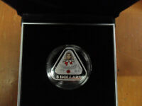 2017 $5 SILVER PROOF TRIANGULAR COIN: