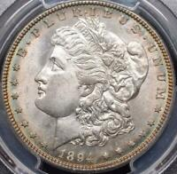 1894 S - MINT STATE 64 PCGS - MORGAN SILVER DOLLAR TONED OBVERSE - PL REVERSE