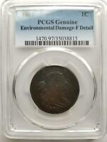 1802 1C UNITED STATES DRAPED BUST LARGE CENT - PCGS FINE DETAIL