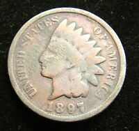 INDIAN HEAD 1 CENT COIN--------1897