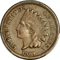 1861 1C INDIAN CENT PCGS EXTRA FINE 45