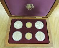 COMPLETE 1983 & 1984 US OLYMPIC 6 COIN COMMEMORATIVE SET