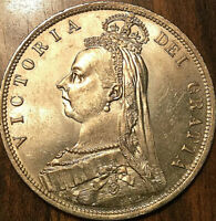 1887 GREAT BRITAIN SILVER VICTORIA HALF CROWN   CHOICE UNC W STRONG LUSTER