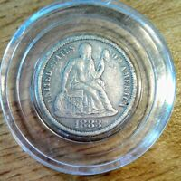 1883 SILVER SEATED LIBERTY DIME