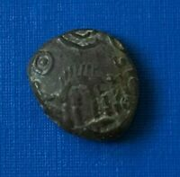 VERY RARE ANCIENT CELTIC AMBIANI BRONZE COIN 1ST CENTURY BC