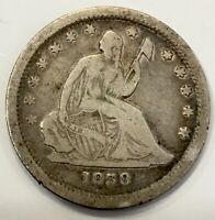 1838 P   SEATED LIBERTY QUARTER   466 000 MINTAGE   90  SILV