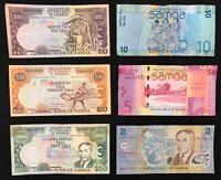 6 X SAMOA BANKNOTE COLLECTION.  2837