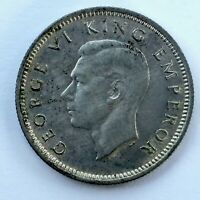 1939 SIXPENCE  NEW ZEALAND   GEORGE VI   ONLY 700 000 MINTED
