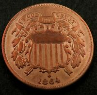 1864 TWO CENT  2 CENT  // CHOICE BU  RED  //  TC561