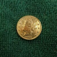 LOTB  LIBERTY V NICKEL 1883 NC RACKETEER GOLD PLATED OWN A PIECE OF HISTORY