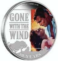GONE WITH THE WIND 80TH ANNIVERSARY 1OZ SILVER COIN PROOF TU