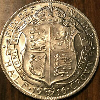 1916 GREAT BRITAIN SILVER GEORGE V HALF CROWN   UNCIRCULATED