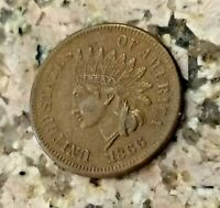 1866  BROWN U.S INDIAN HEAD PENNY CLEAR  SHARP HIGH GRADE