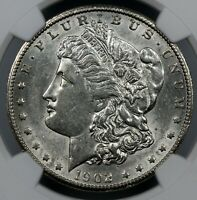 BETTER DATE NGC AU55 1902-S MORGAN SILVER DOLLAR $1   BC13