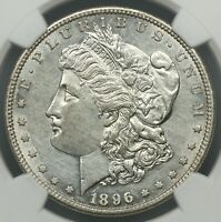 BETTER DATE NGC AU DETAILS 1896-S MORGAN SILVER DOLLAR $1   BC08