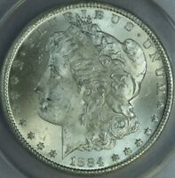 1884-CC MORGAN SILVER DOLLAR ANACS MINT STATE 63 VAM-4B  AT0479/BAN