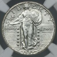 BETTER DATE NGC MINT STATE 63 1927-D STANDING LIBERTY SILVER QUARTER 25C   BC08