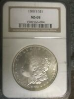1880 S MORGAN SILVER DOLLAR MS 68