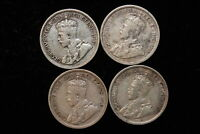 1916 1921 1930 1935 CANADA. 10 CENTS. 4 COIN LOT.