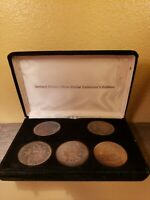 5 MORGAN DOLLAR SET 1880 1882 1884 1891 1921 FAMILY ESTATE  TONED RAINBOW