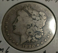 CIRCULATED 1880 8/7 SPIKES OVERDATE VAM 6  MORGAN SILVER DOLLAR