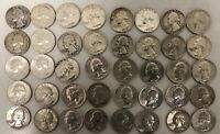 $10 FACE VALUE SILVER WASHINGTON QUARTERS   LOT OF 40  DATED