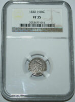 1830-P CAPPED BUST HALF DIME NGC VF35 NO PROBLEM COIN WITH STRONG DETAILS