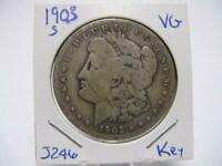1903 S MORGAN DOLLAR  FINE  ESTATE   COIN  J244